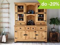 Vintage - Drewniane sosnowe meble w stylu Vintage