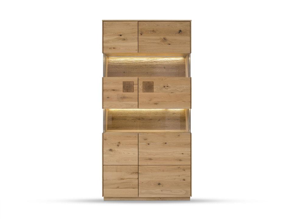drewniana witryna