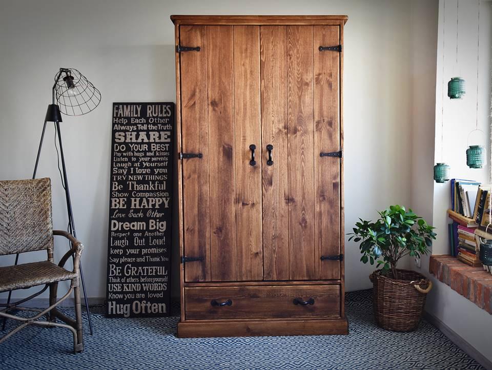 szafa drewniana rustyk