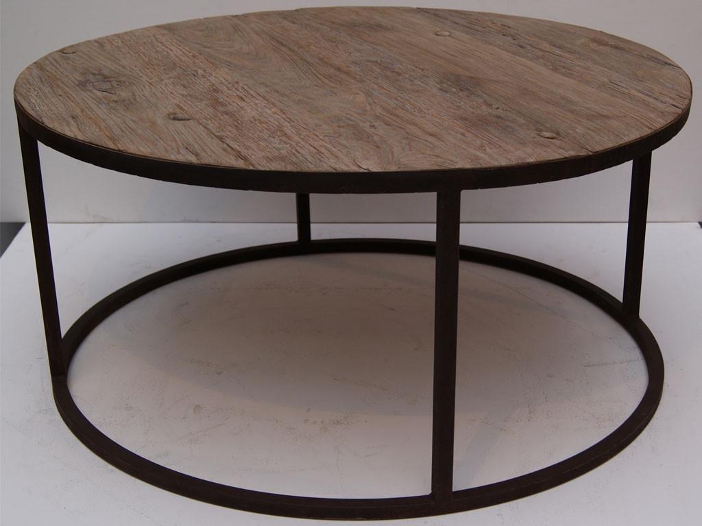 Okrągły stolik z drewna teakowego This & That 3