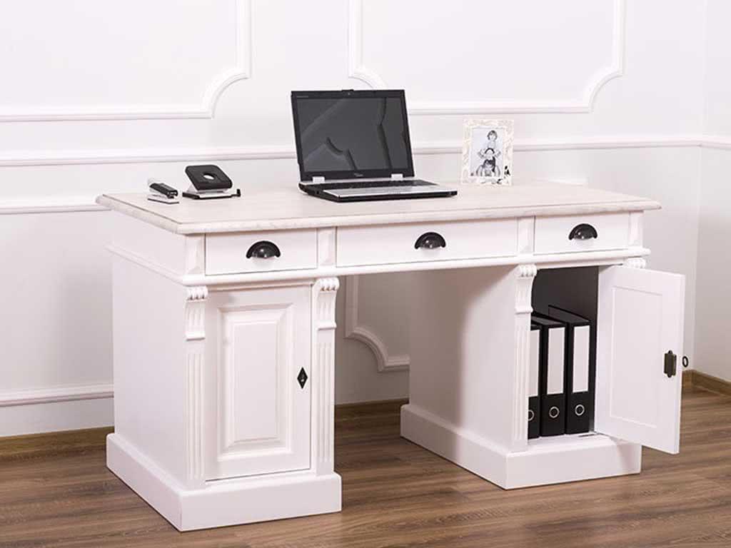 Przestrzenne biurko sosnowe Charlotte II 115