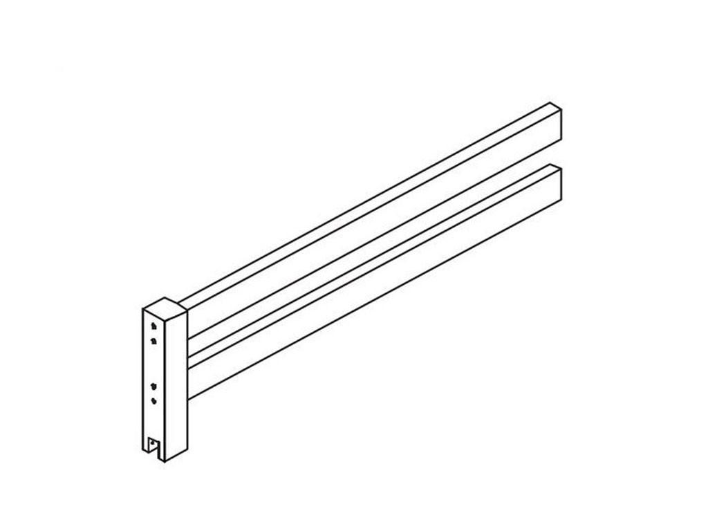 Moduł barierki 1/2 Maja BASIC 125 do łóżek 70x190