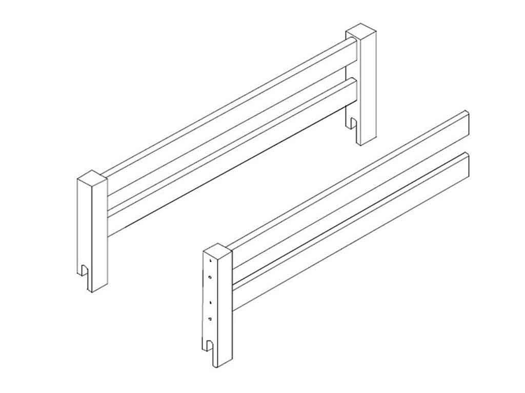 barierka do łóżka 90x200