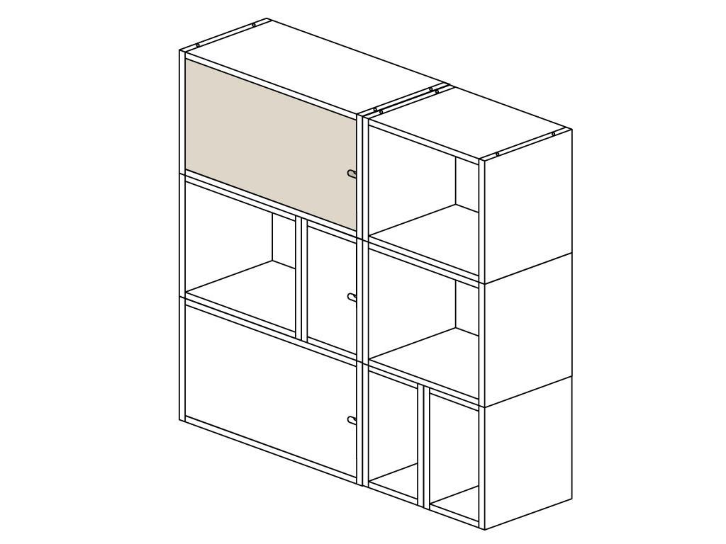 Drzwiczki do Regałów modułowych KOSTKA 60x40 cm (20)