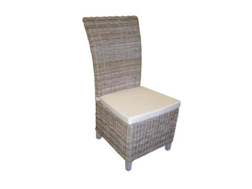 Rattanowy fotel z poduszką Rattan Home 1