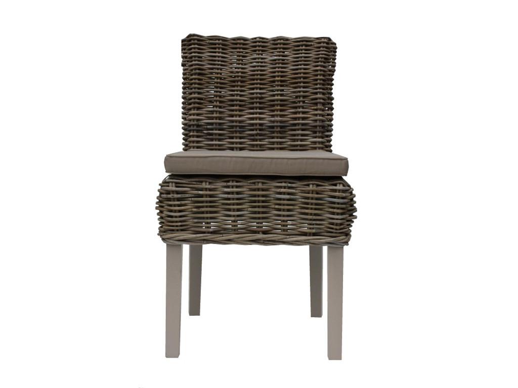 Rattanowy fotel z poduszką Rattan Home 2