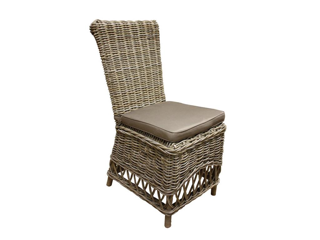 Rattanowy fotel z poduszką Rattan Home 6