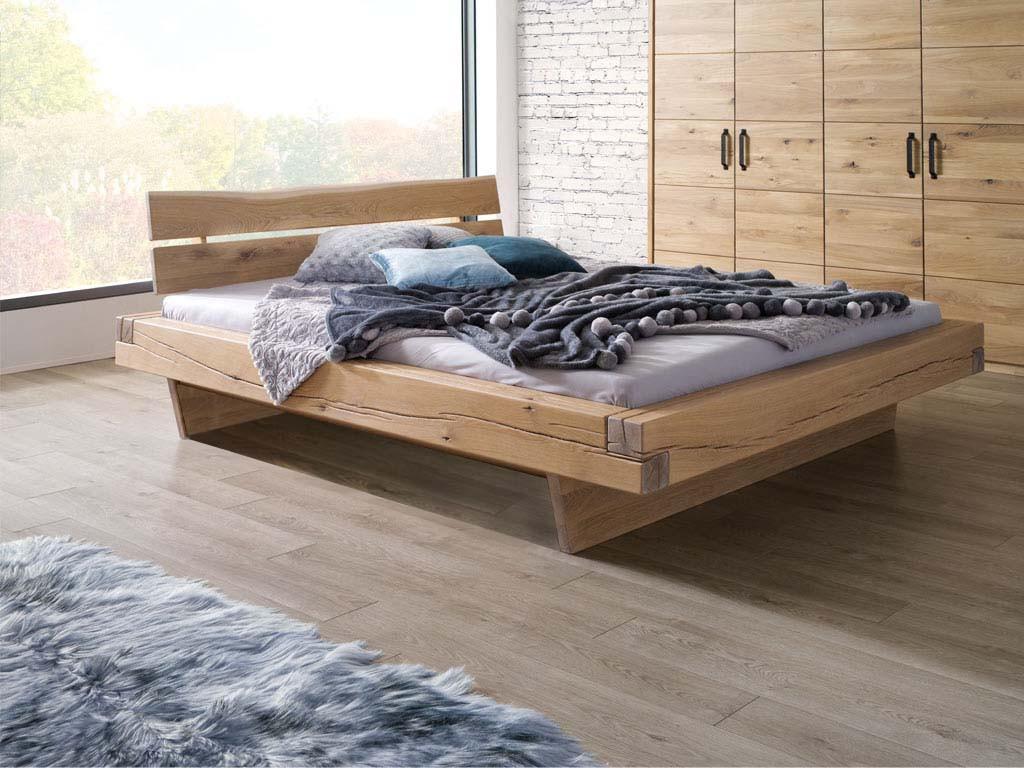 Stylowe dębowe łóżko do sypialni