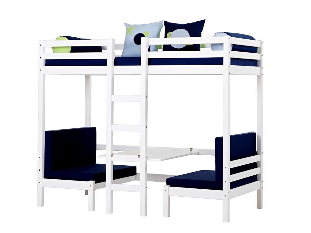 Kompletne łóżko sosnowe piętrowe Maja 40 XXL 90x200cm