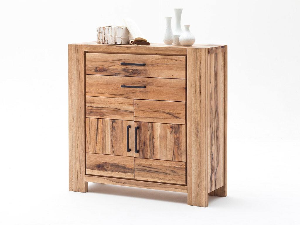 Niewielka komoda z drewna dębowego z szufladami Solid