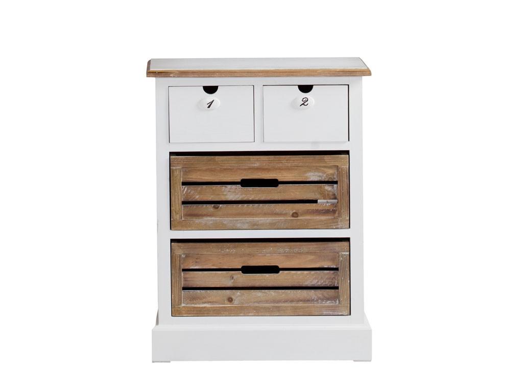 Biała komoda drewniana Louise Brown 1