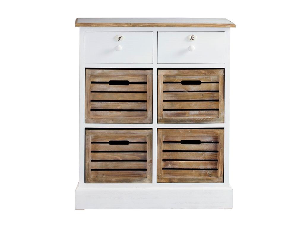Biała komoda drewniana Louise Brown 2