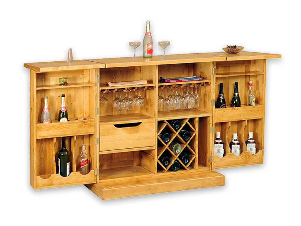 Drewniana komoda na wino Mexicana 1