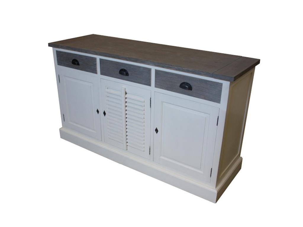 Biała komoda z szufladami Riviera 4