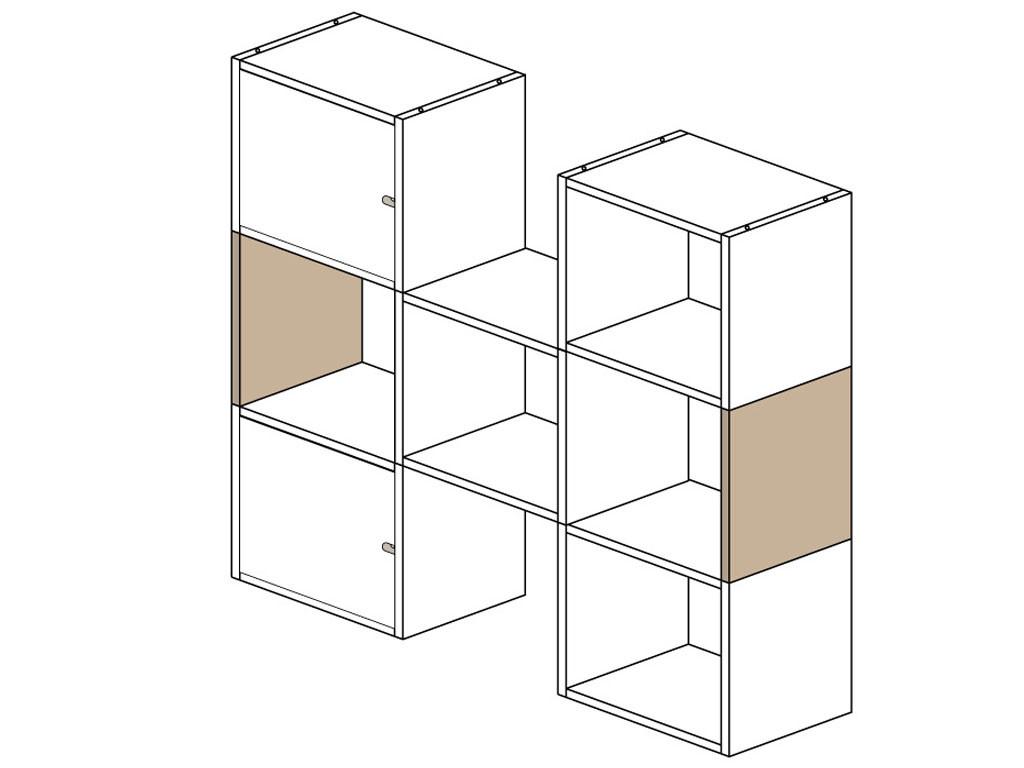 Ścianka boczna do regału Kostka 20 mm