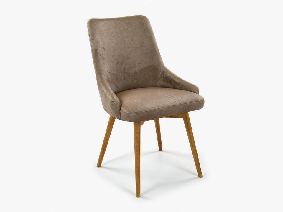 krzesło drewniane tapicerowane do jadalni