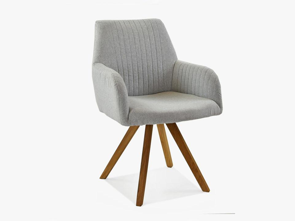 krzesło tapicerowane z podłokietnikami