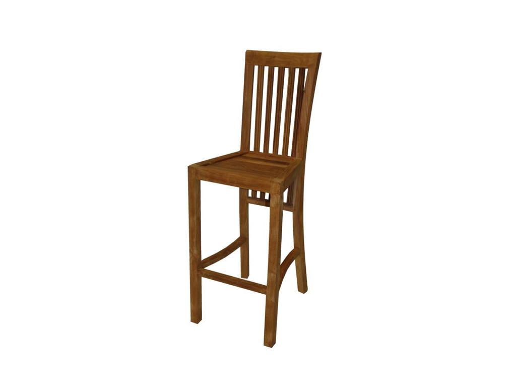 Barowe krzesło teakowe Natural 1
