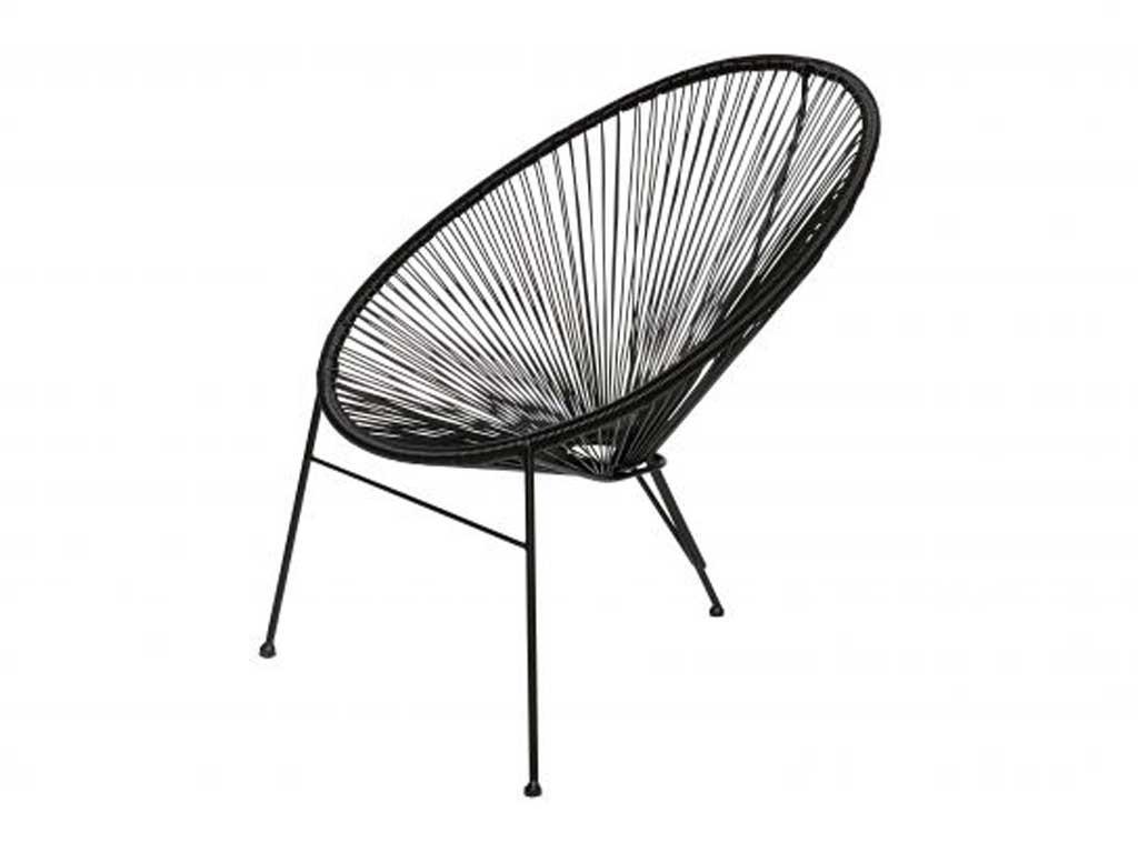 Czarne krzesło Breeze - ostatnie sztuki