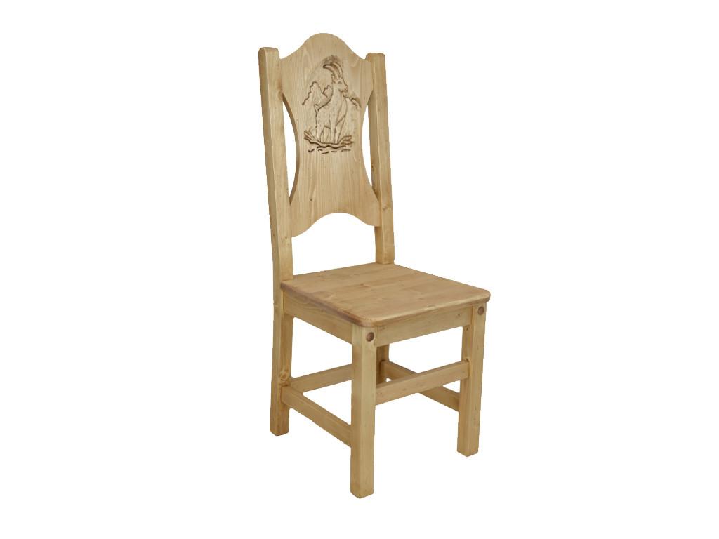 Krzesło z rzeźbionym oparciem Jagna 2