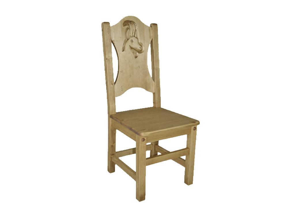 Krzesło z rzeźbionym oparciem Jagna 3