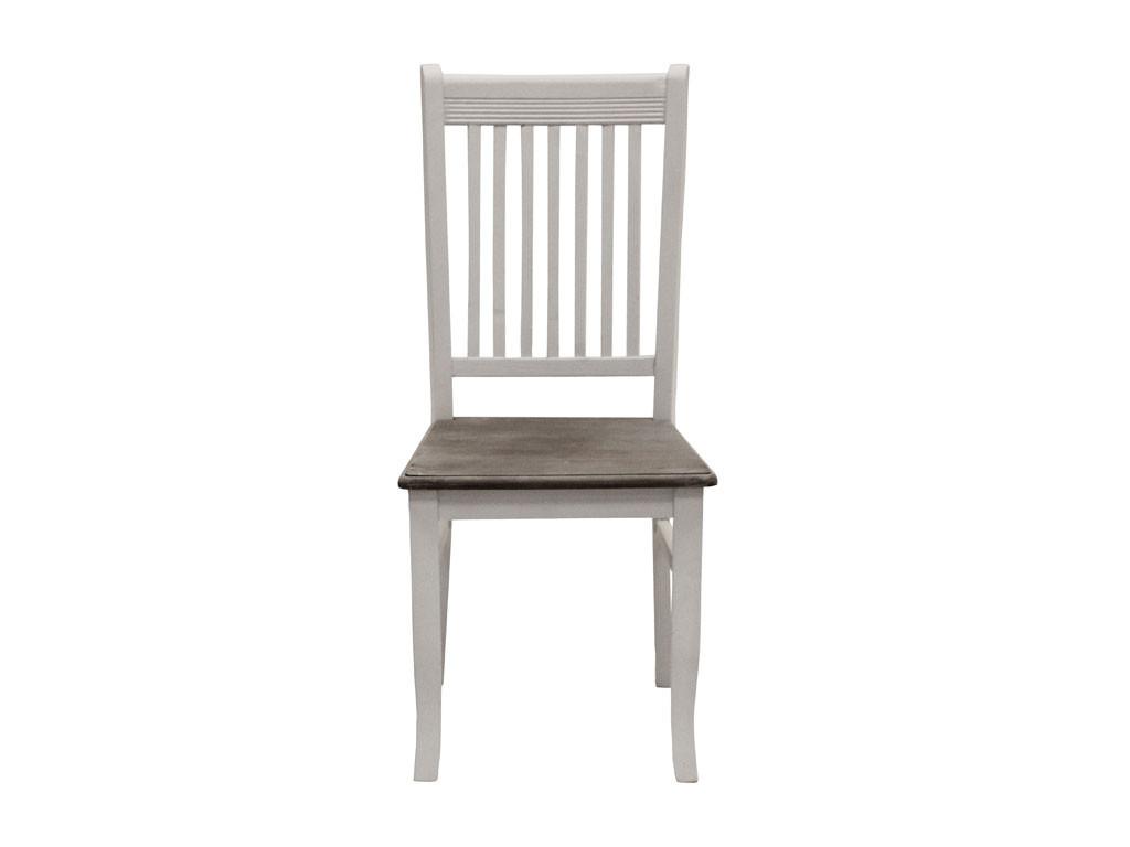 Białe krzesło drewniane Louise Gray