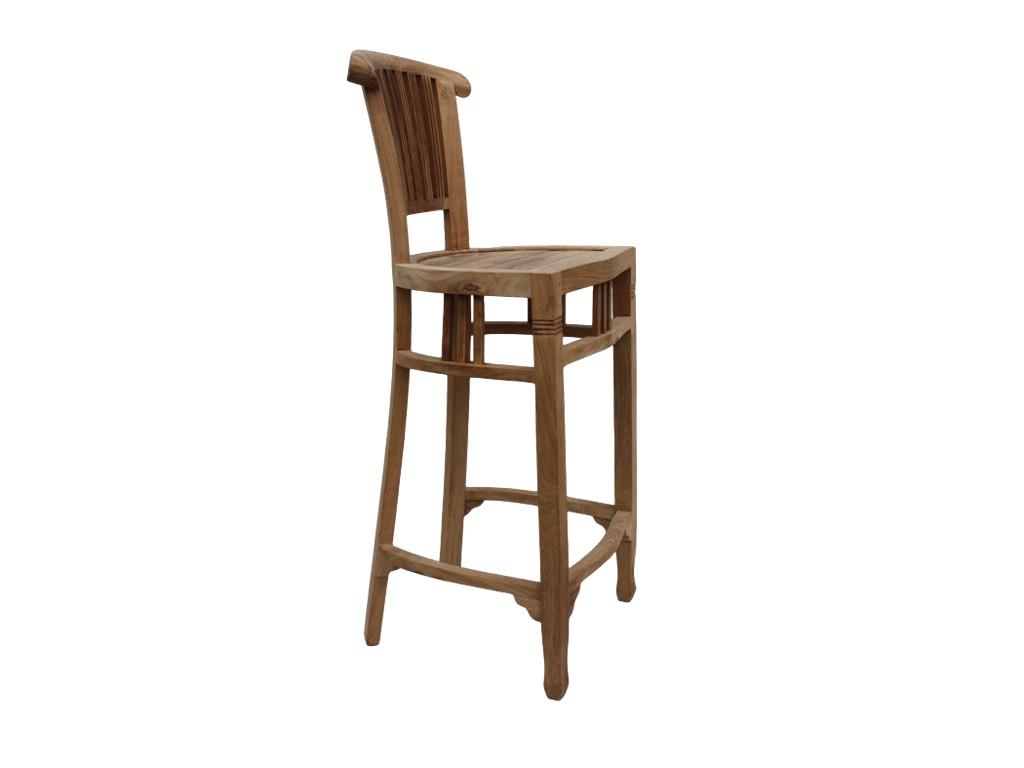 Barowe krzesło teakowe Natural 10