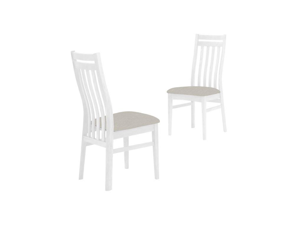 Białe krzesło brzozowe Olsen 1