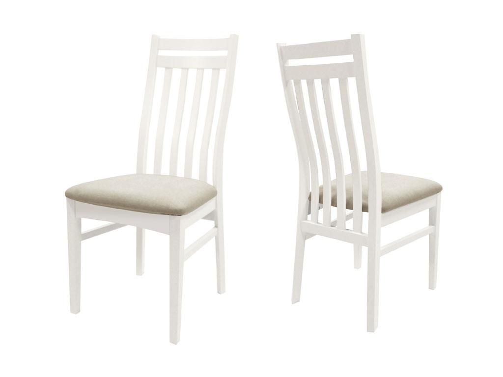 Białe krzesło brzozowe Olsen 4