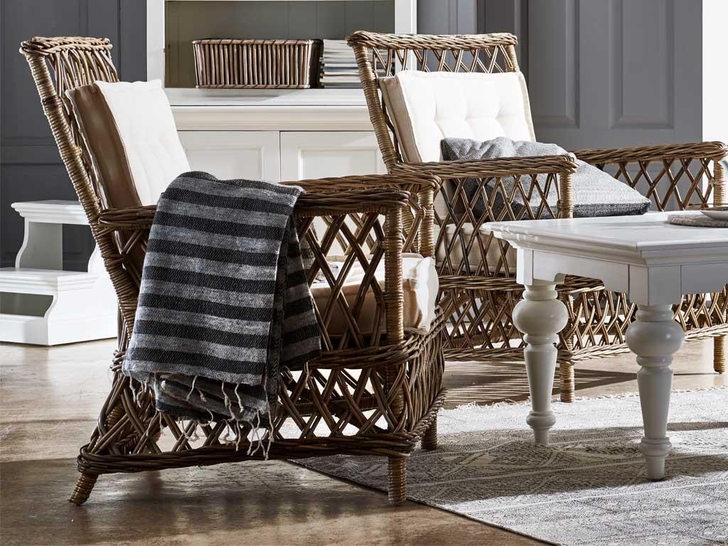 Krzesło Rattanowe Marquis z poduszką