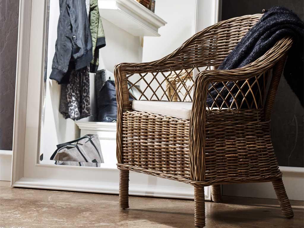 Krzesło Rattanowe Monarch z poduszką