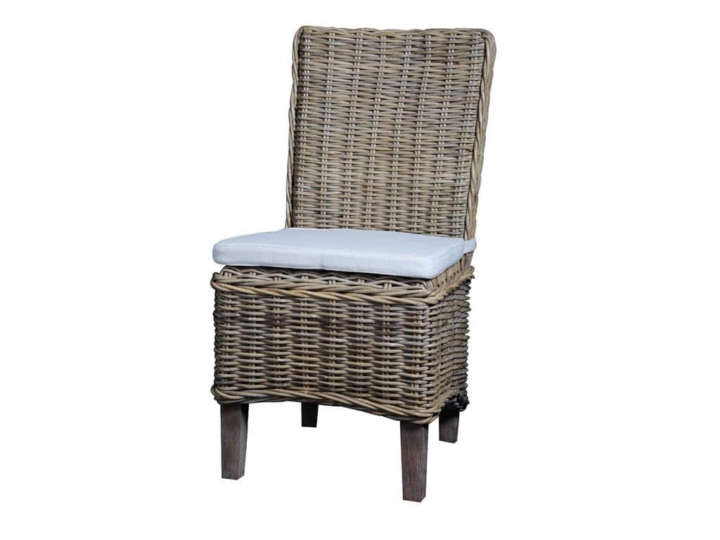 Krzesło Rattanowe Morin z poduszką - WYPRZEDAŻ