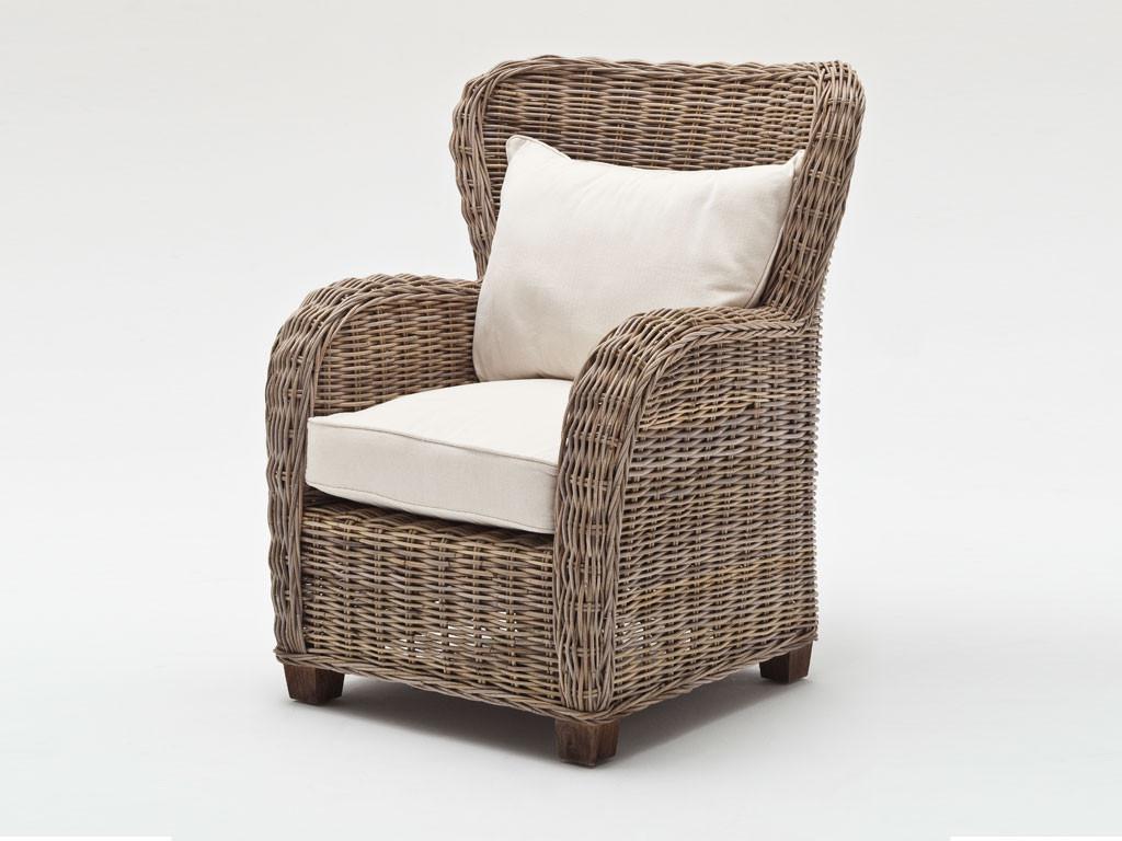 Krzesło Rattanowe Queen z poduszką