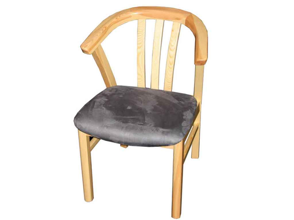 Krzesło sosnowe tapicerowane Marco 3