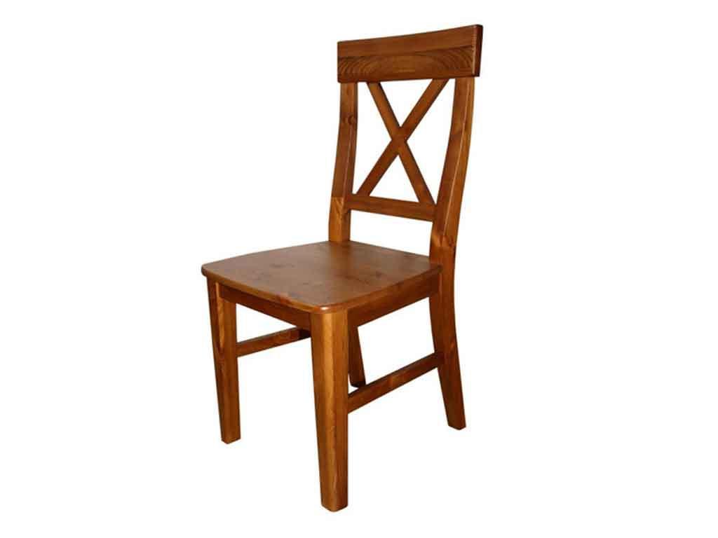 Krzesło sosnowe tapicerowane Marco 4