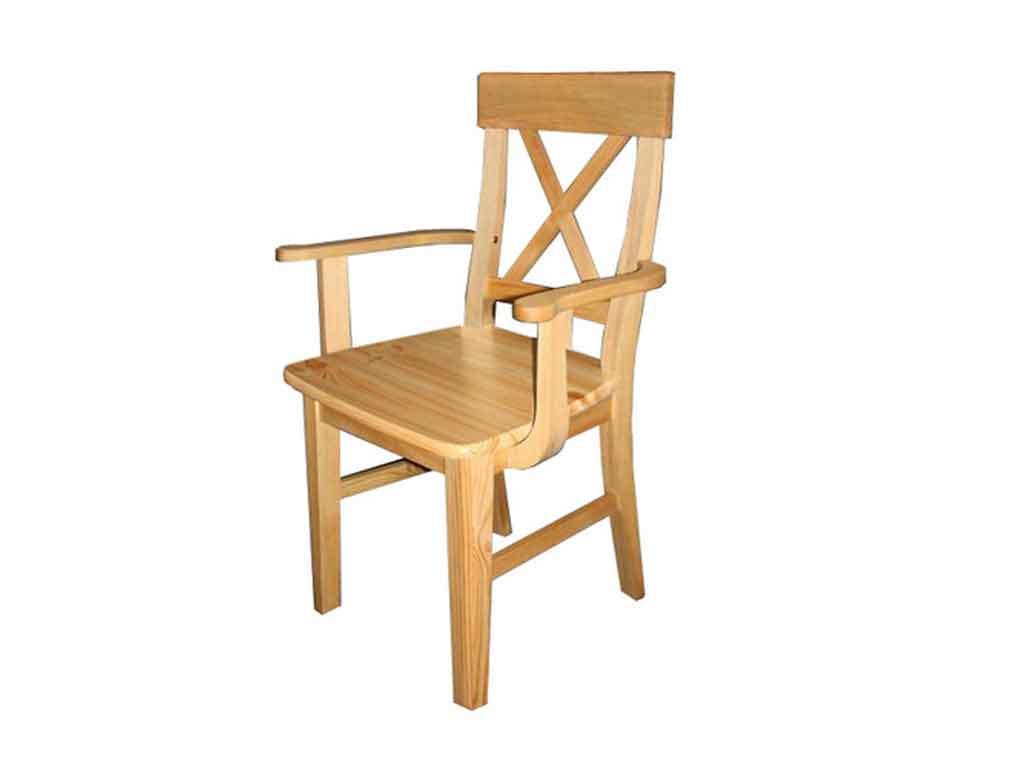 Krzesło sosnowe tapicerowane Marco 5