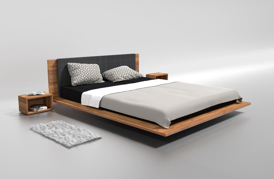 Drewniane łóżko PAUL