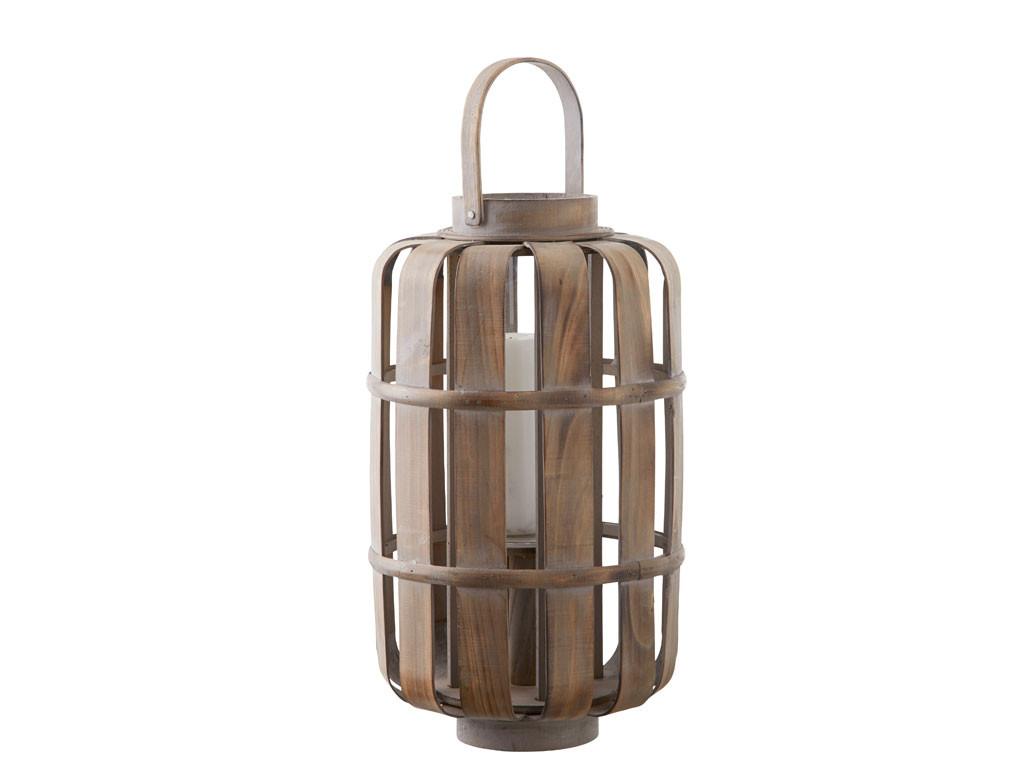 Lampion szklany w rattanowej obudowie This & That 3