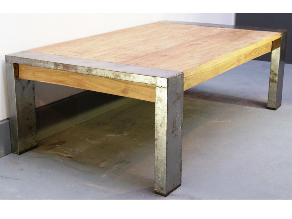 Ława z drewna z recyklingu Loft