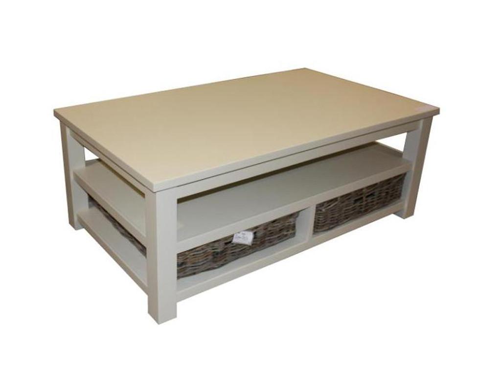 Biała ława drewniana White Mango 1