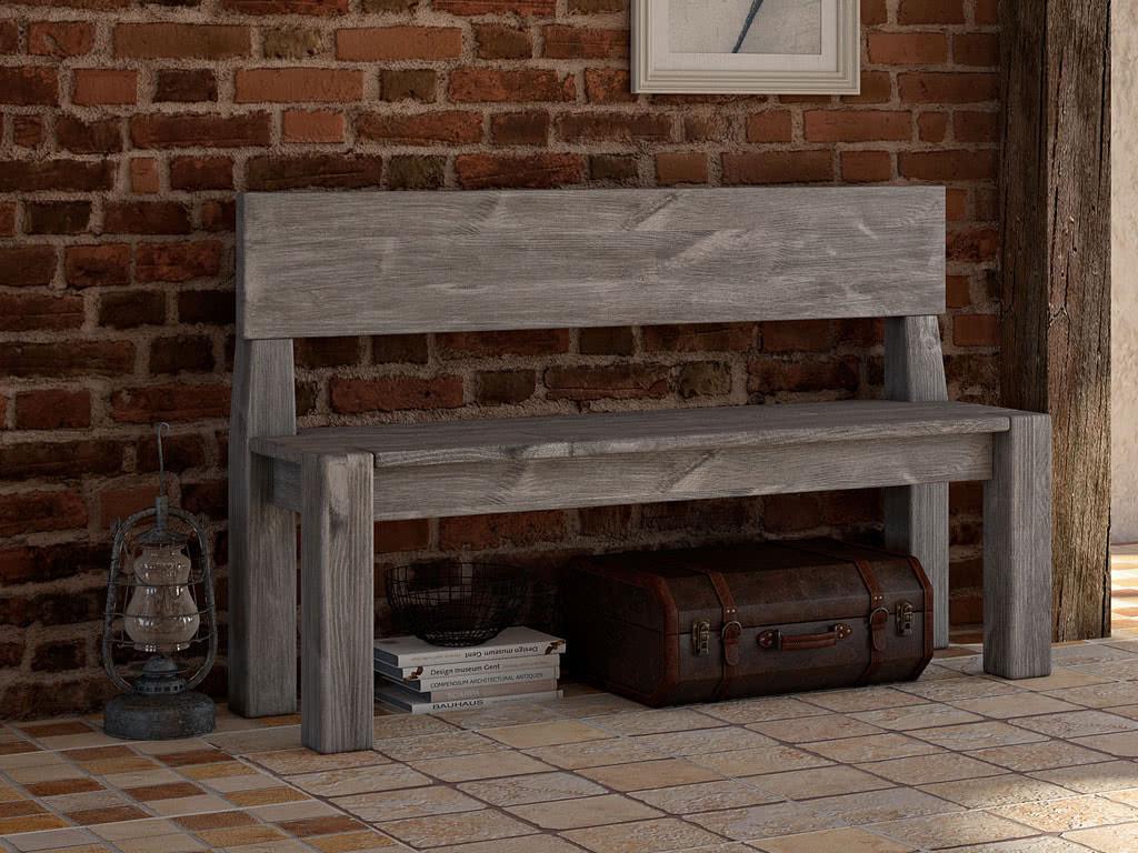 Rustykalna ławka z oparciem Country 23