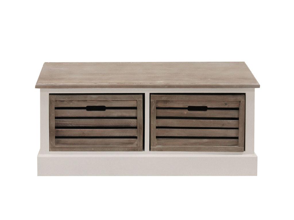 Biała ławka drewniana Louise Gray 1