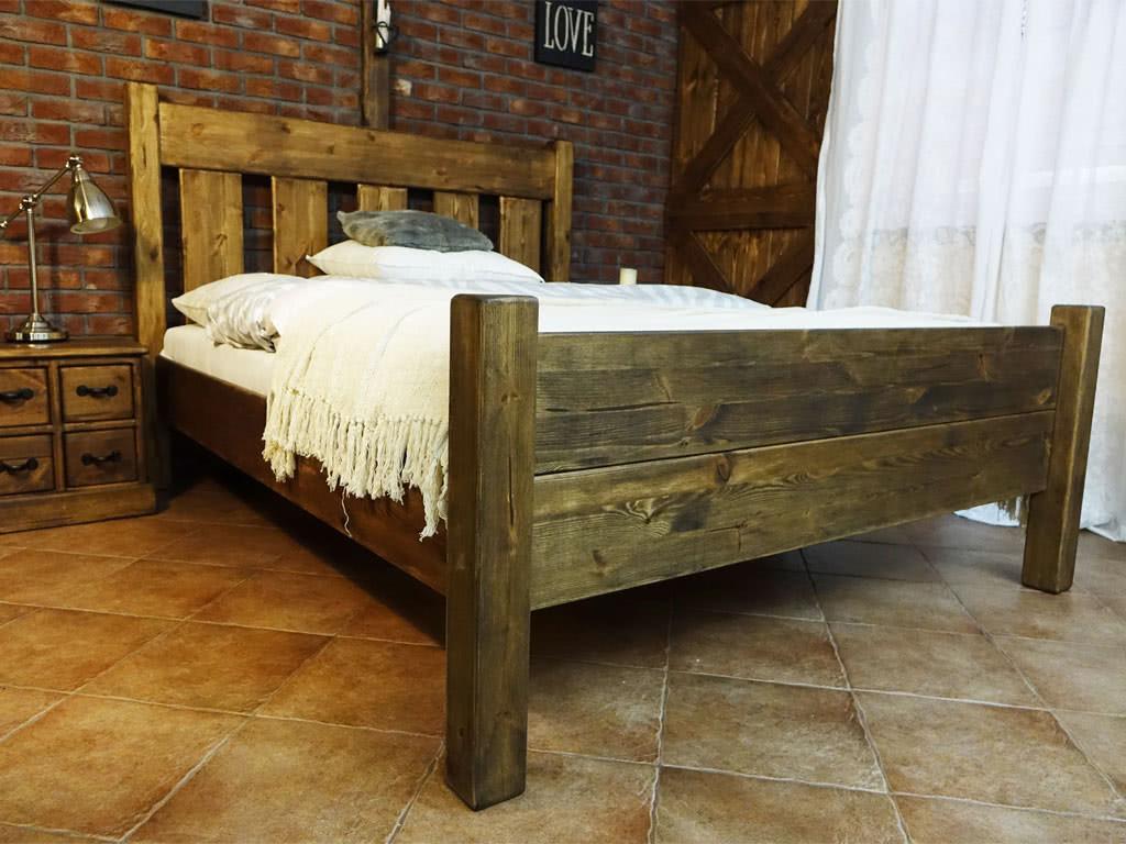 Łóżko Sosnowe Rustyk / Mieszko III 160 - ostatnie sztuki