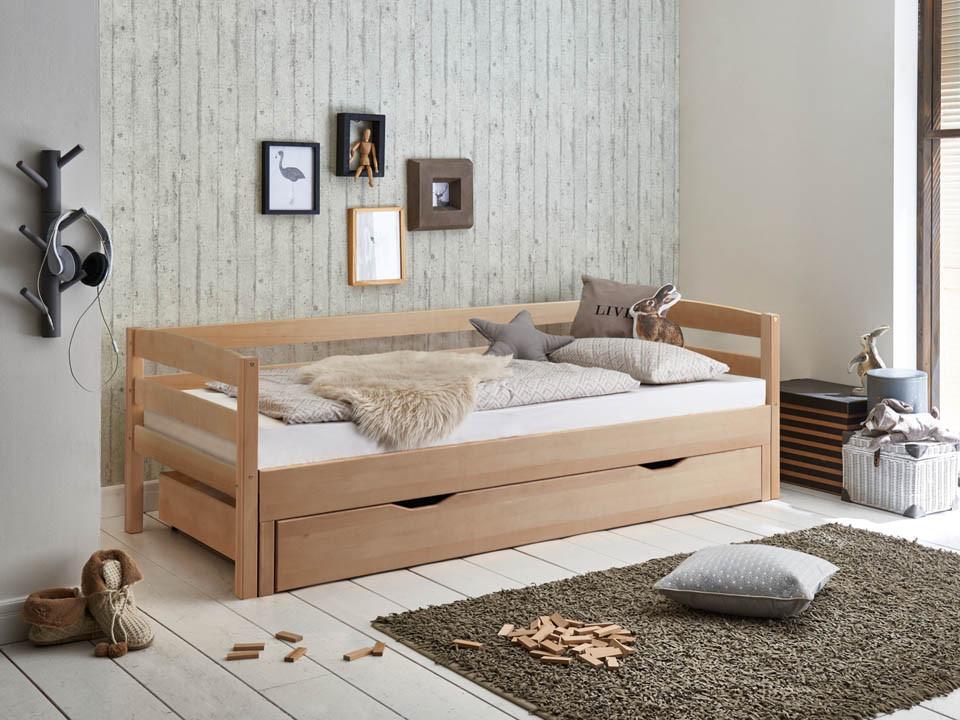 Łóżko bukowe rozkładane Wendy 72