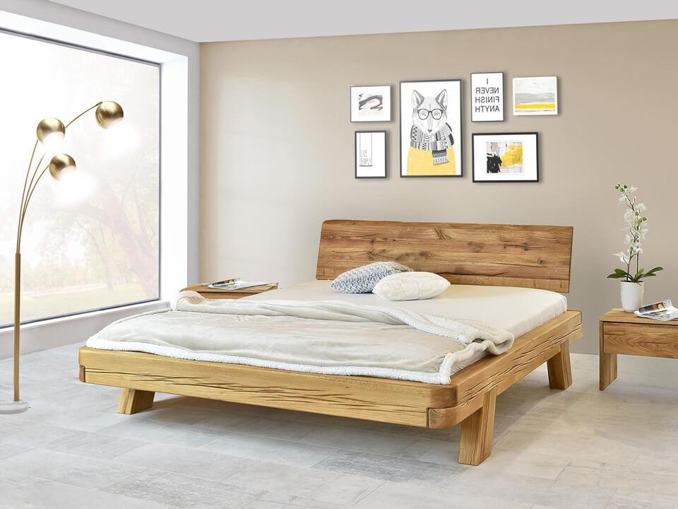 łóko dębowe drewniane