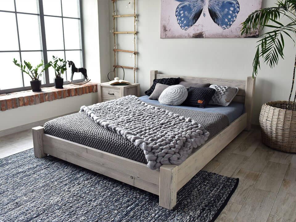 Drewniane łóżko Country New 27 180 Cm