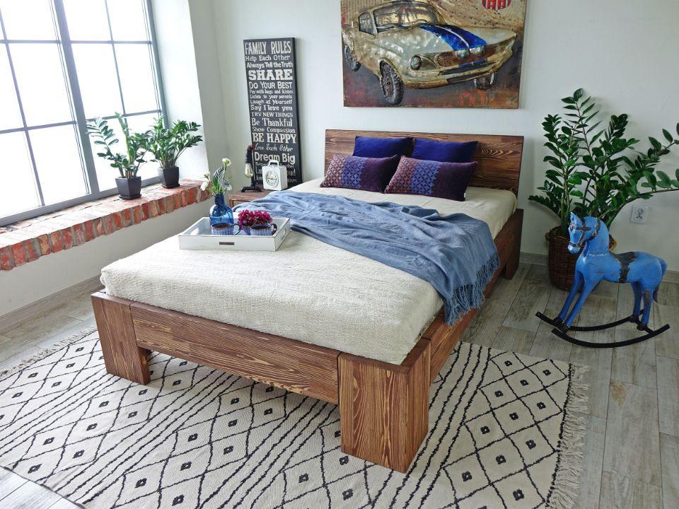łóżko drewniane nowoczesne