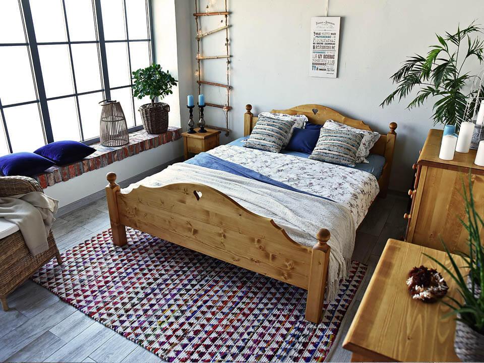 Łóżko drewniane Mexicana 1 140x200