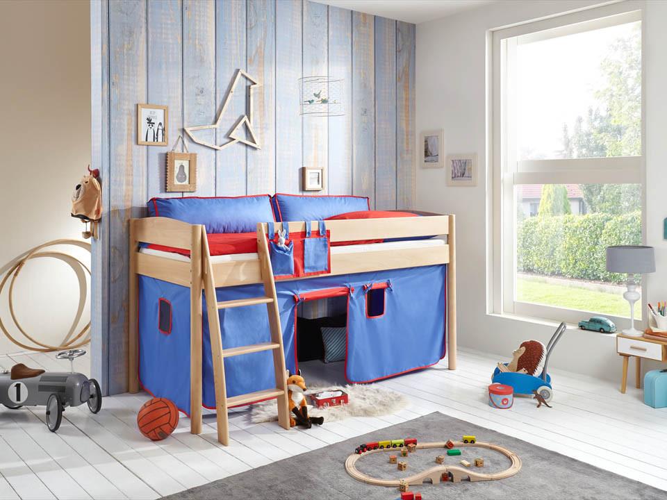 Łóżko bukowe antresola Wendy 76 90x200