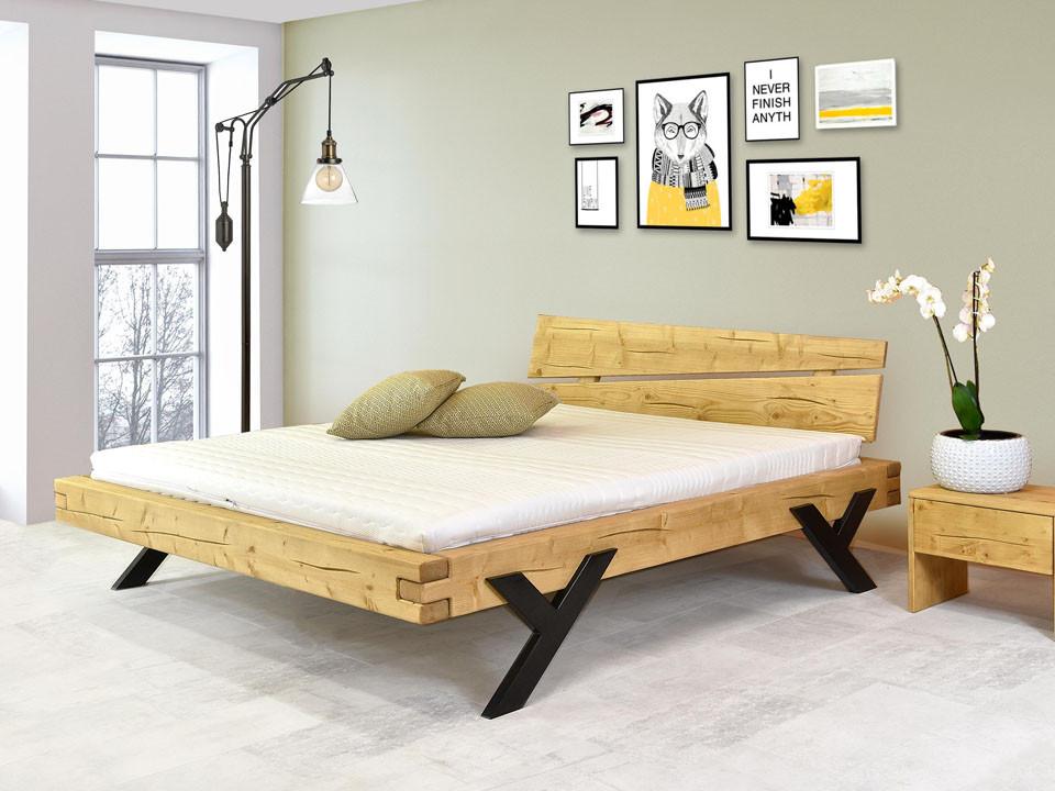 Łóżko dębowe do nowoczesnej sypialni